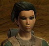 virtualvoyages: A dark haired woman with slightly Asian features and a scar crossing her right eye. (Savler)