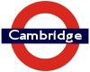 "pseudomonas: ""Cambridge"" in London Underground roundel (cam)"