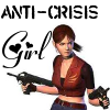 kyoutenshi: Clair Redfield, ready for action with the words 'Anti-Crisis Girl'. (anti crisis girl)