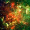 sylvaine: The North America Nebula - swirling cloud of green and orange stardust. ([gen] universe)