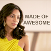 "veleda_k: Diana from White Collar. Text says, ""Made of awesome."" (White Collar- Diana is awesome)"