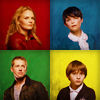 skieswideopen: The icon is divided into four parts. Emma, Mary Margaret, David, and Henry are each in different corners. (Once Upon a Time: Family)