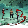 cmshaw: DC Comics: Roy, Jason, Kori, and Kori's fabulous hair go walking (Threesome with Hair)
