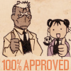 "hokuton_punch: Art of Scar and Mei from Bleach both giving a thumbs-up, captioned ""100% approved."" (fma scar and mei approve)"