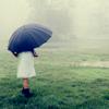 iconicmanifesto: Girl under a blue umbrella (Under a blue umbrella)