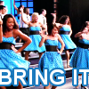 "scaramouche: Vocal Adrenaline glee club from Glee, with ""Bring It"" in text (glee bring it)"