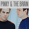gnomad: Kirk and Spock are really Pinky & the Brain, y/y? (Kirk/Spock- Pinky & the Brain)