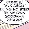 viced: (Text | Comics aren't pretentious Mitch)
