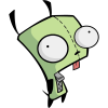 foxfirefey: A picture of GIR. (gir)