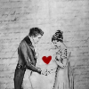 tree: black and white drawing of regency couple with red heart between them ([pp] you must allow me to tell you)
