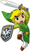 haya5h1: Toon Link attacking cutely (link attack!)