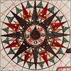 stranger: 32-armed compass rose (compass windrose)