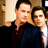 sholio: Peter and Neal from White Collar - Neal's hand on Peter's shoulder (WhiteCollar-Neal hand on Peter's shoulde)