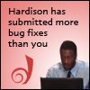 thedivinegoat: Picture: Hardison from Leverage - Text: Harison has submitted more bug fixes than you (Leverage - Hardison Dreamwidth Bug Fixes)
