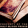 shyfoxling: worn book with text Property of the Half-Blood Prince (general (hbp book))