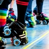 radiantbaby: (roller derby -- colorful starting line)