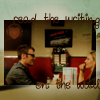 monanotlisa: THE Olivia/Lincoln scene from the diner that night: heart on the wall behind them, glyph code (olivialincoln writing - fringe)
