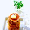whut: (Foods — hotcakes w. butter)