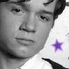 takhallus: Dan Byrd greyscale and purple star (blackmylar)