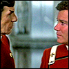 epershand: Kirk and Spock looking at each other. (Kirk & Spock)