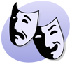 bethbethbeth: comedy and tragedy theatre masks (Theatre Comedy/Tragedy (bbb))