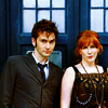 bethbethbeth: Tenth Doctor and Donna Noble in front of the TARDIS (Who Doctor Donna (intodelerium))