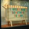 """takhallus: """"I wish I had something to say"""" (I wish I had something to say)"""