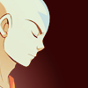 aangairnomad: Profile of Aang with his eyes closed and meditating (Meditation)
