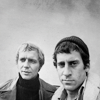 solosundance: from pilot, Starsk in knitted hat (S&H b&w)