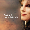 muccamukk: Delenn smiling slightly. Text: Faith Manages. (B5: Faith Manages)