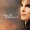 muccamukk: Delenn smiling slightly. Text: Faith Manages. (B5: Faith Manages)