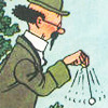 narrowmybed: Professor Tournesol waving a pendulum. (Genius at work)