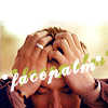 "paraka: Dean with his face in his hands with the caption ""*facepalm*"" (SPN-D-*facepalm*)"