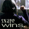 "shyfoxling: Still frame of Professor Snape from the Chamber of Secrets film, text ""Snape wins"" (severus gen (snape wins))"