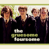 "shyfoxling: Marauders from Order of the Phoenix, text ""The gruesome foursome"" (marauders (gruesome foursome))"