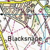 shyfoxling: Crop of a map of England showing the town of Blacksnape (severus sirius (blacksnape))