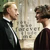 shanaqui: Lord Peter and Harriet, looking at one another, text: you, who forever elude me ((PeterHarriet) Elusive)