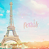 "lysimache: Eiffel Tower with text ""paris"" (other: paris)"