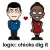 nonelvis: (STAR TREK Logic (Spock/Uhura))