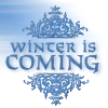 mousme: A text icon in pale blue that reads Winter is Coming (Winter is Coming)