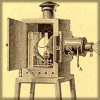 damned_colonial: Early film projector, circa 1900 (vidding)