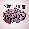 "ninetydegrees: Drawing & Text: brain with the words ""stimulate me"" (brain)"