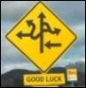 kippurbird: (Good Luck road sign)
