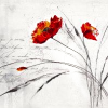 quillori: simple and elegant sketch with red flowers (stock: red flower sketch)
