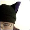 ext_4085: me wearing a hat with kitty ears (kittyhat)