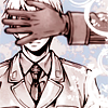kolkhozi: prussia of Axis Powers Hetalia, with his eyes covered by a hand coming from offscreen (presumably Russia's) (let the rain come down [X/1999])