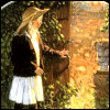 skygiants: Mary Lennox from the Secret Garden opening the garden door (garden)