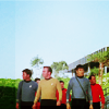jissa: Kirk, Spock, McCoy, and two redshirts beam down to a planet. Guess who doesn't beam back up? (st: red shirts, f: star trek)