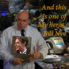 thothmes: Dr Lee Holds Up A Head Shot of Bill Nye (Dr Lee's Hero)