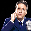 healingmirth: Jon stewart as an old-timey radio broadcaster (jon stewart)